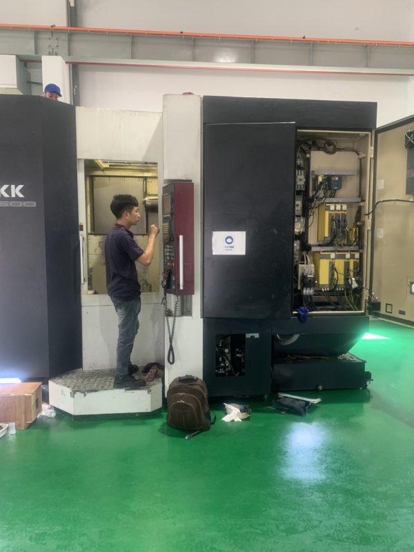 Lắp đặt máy cnc okk