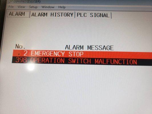 Lỗi màn hình vận hành máy mazak