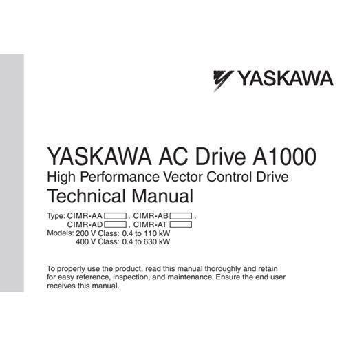 Tài liệu biến tần Yaskawa A1000 tiếng Việt
