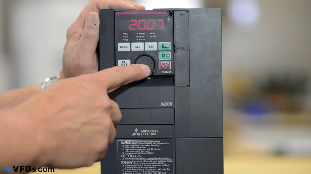 Hướng dẫn cài đặt biến tần mitsubishi A800