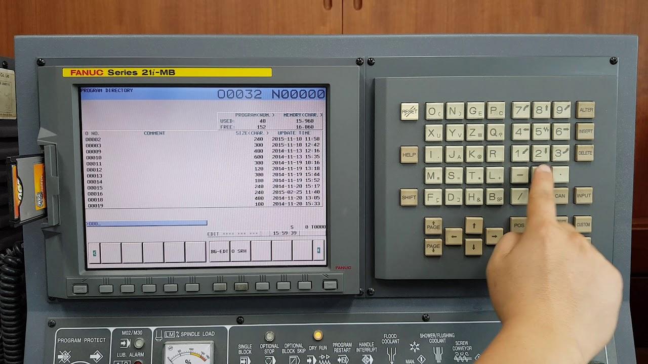 Tài liệu vận hành bộ điều khiển Fanuc 21i